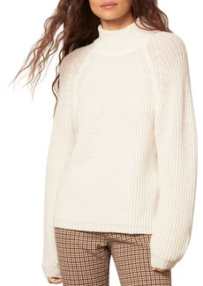 cupcakes and cashmere Griffith Mock Neck Rib Knit Sweater