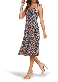cupcakes and cashmere Hailey Floral Midi Dress