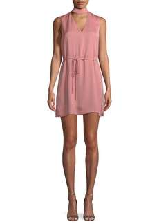Cupcakes and Cashmere Hansel V-Neck Mini Dress with Self-Tie Waist