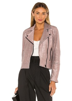 cupcakes and cashmere Hollister Metallic Knit Moto Jacket