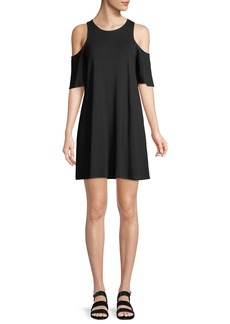 cupcakes and cashmere Hyde Cold Shoulder Mini T-Body Dress