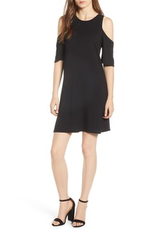 cupcakes and cashmere Hyde Cold Shoulder T-Shirt Dress