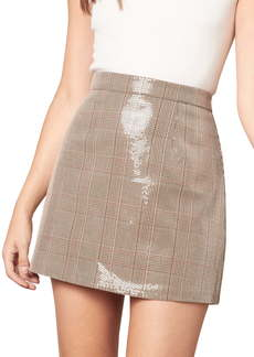 cupcakes and cashmere Jami Sequin Plaid Skirt