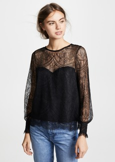 cupcakes and cashmere Jenevra Lace Blouse