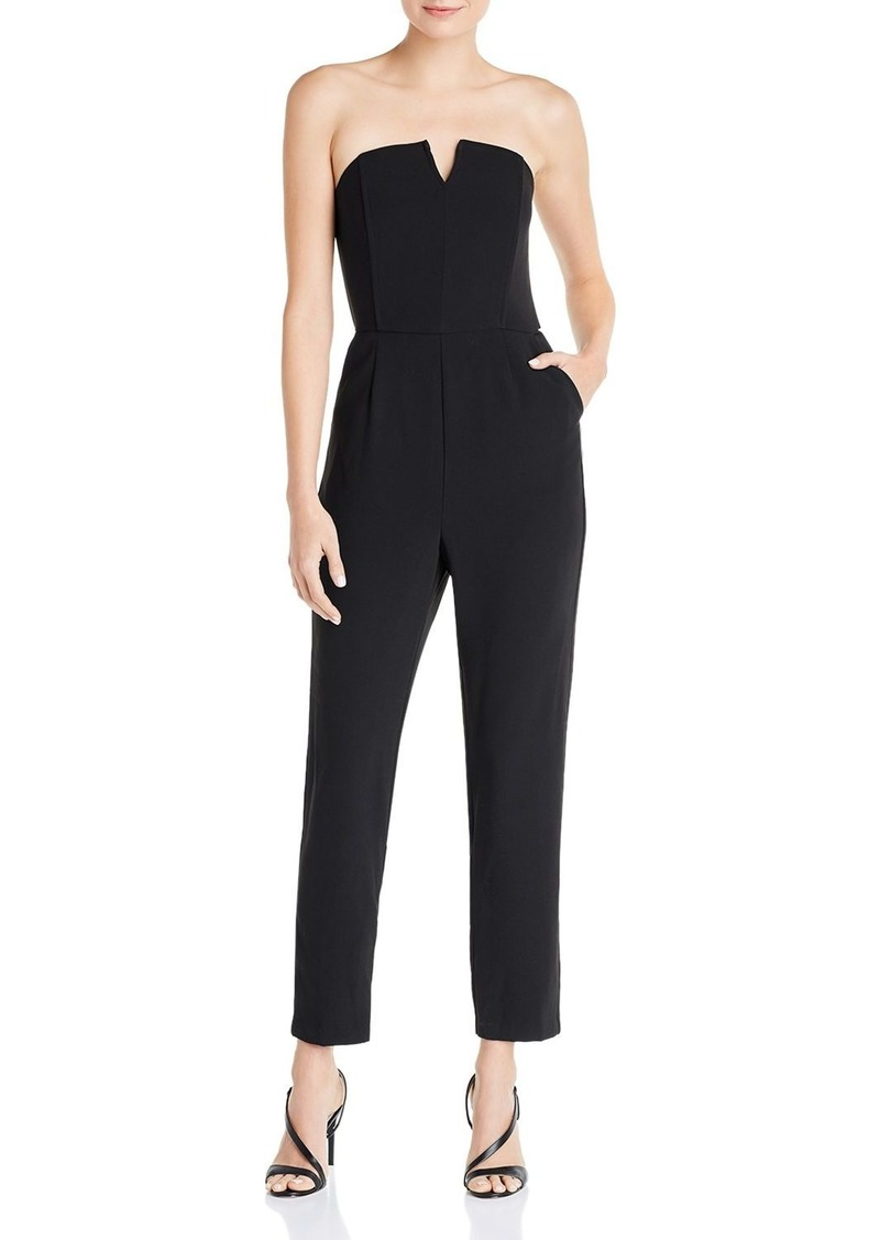 cupcakes and cashmere Jessalyn Strapless Jumpsuit