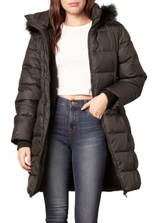 cupcakes and cashmere Kepler Faux Fur Hooded Puffer