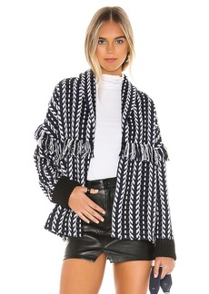 cupcakes and cashmere Kirsty Longline Tweed Bomber