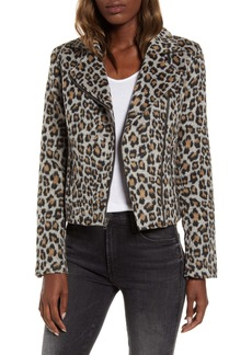 cupcakes and cashmere Leopard Moto Jacket