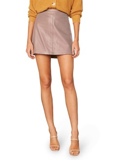 cupcakes and cashmere Marrie Leather Miniskirt