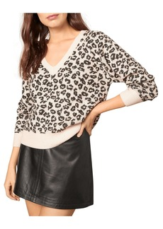 cupcakes and cashmere Monroe Animal Print Sweater