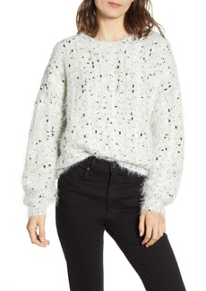 cupcakes and cashmere Nisha Fuzzy Speckle Pullover