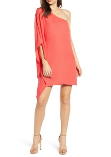 cupcakes and cashmere One-Shoulder Crepe Dress
