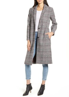 cupcakes and cashmere Oxford Long Check Coat