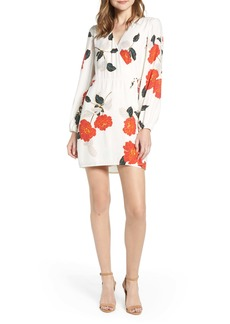 cupcakes and cashmere Passion Blossoms Long Sleeve Wrap Dress