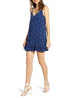 cupcakes and cashmere Polka Dot Tie Strap Minidress