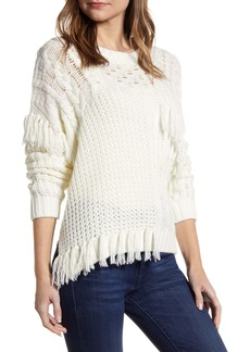 cupcakes and cashmere Romy Asymmetrical Cable Knit Sweater