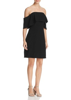 cupcakes and cashmere Rudy Ruffled Off-the-Shoulder Dress