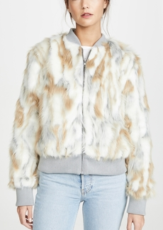 cupcakes and cashmere Sia Faux Fur Jacket