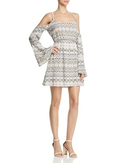 cupcakes and cashmere Starling Cold-Shoulder Bell Sleeve Dress