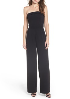 cupcakes and cashmere Strapless Crepe Jumpsuit