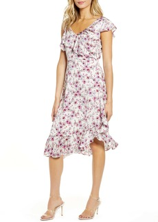 cupcakes and cashmere The Delphia Floral Print Asymmetrical Dress