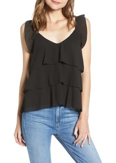 cupcakes and cashmere Tiered Ruffle Camisole