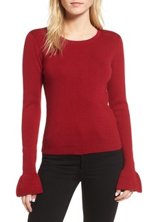 cupcakes and cashmere Tina Ruffle Cuff Sweater