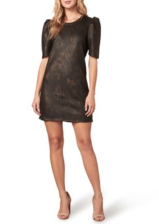 cupcakes and cashmere Trixie Faux Leather Minidress