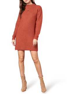 cupcakes and cashmere Twain Long Sleeve Sweater Minidress