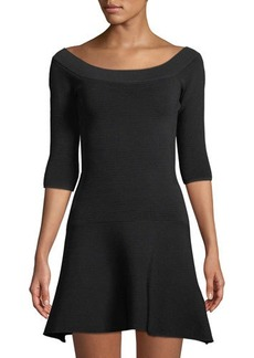 Cupcakes and Cashmere Whitley Ribbed Fit-and-Flare Dress