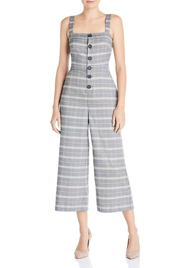 cupcakes and cashmere Willa Plaid Jumpsuit