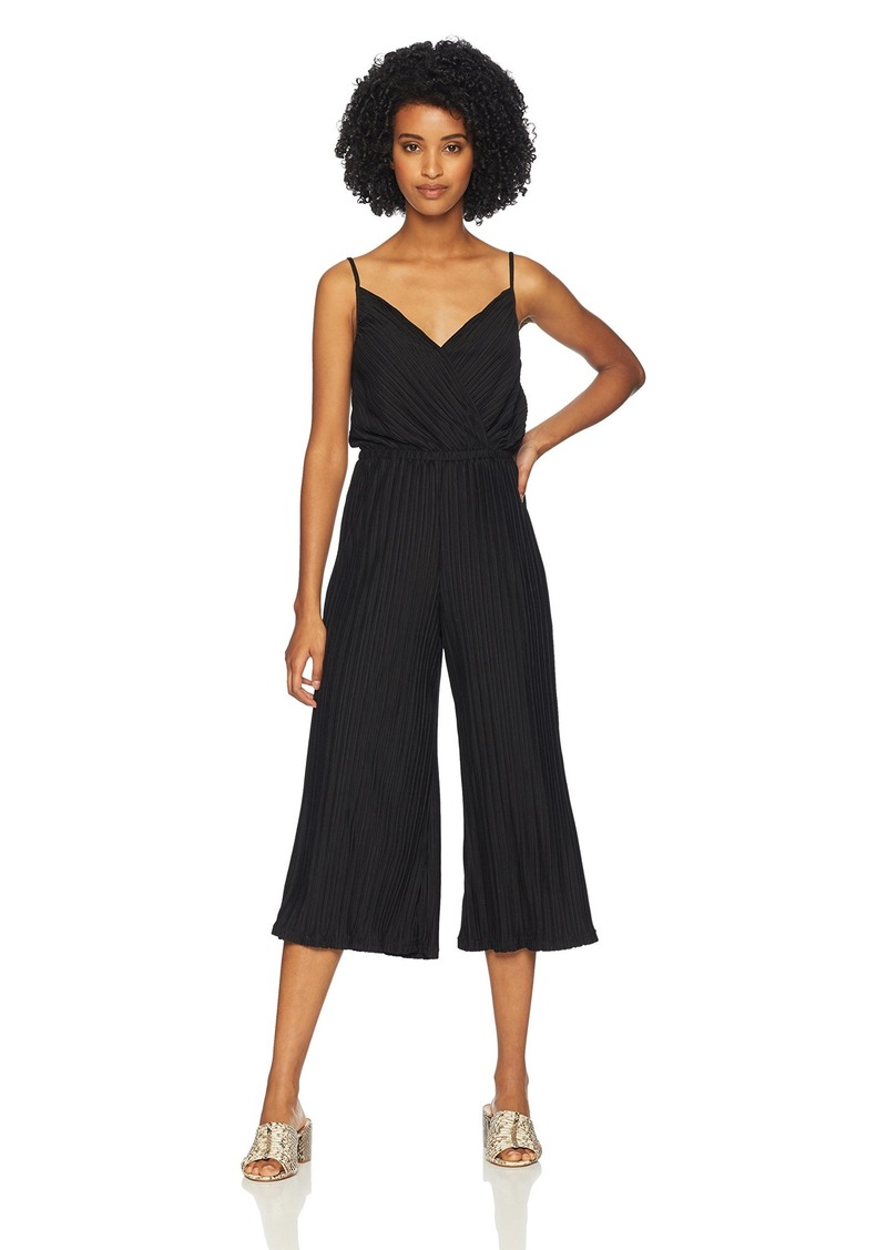cupcakes and cashmere Women's Austine Pleated Crop Knit Jumpsuit