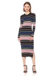 cupcakes and cashmere Women's Barrow Metalic Striped Dress