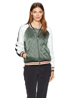 cupcakes and cashmere Women's Brice Reversable Quilted Bomber Jacket