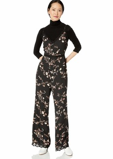 cupcakes and cashmere Women's Candor Gypsy Blossom Printed CDC Jumpsuit w/lace Trim
