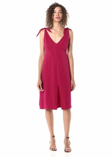 cupcakes and cashmere Women's Carolina Soft Crepe tie Strap Dress with Front Slit