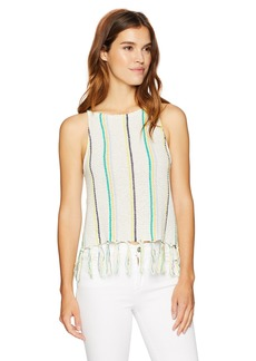 cupcakes and cashmere Women's Cecille Vertical Stripe Sweater Vest  Extra Small
