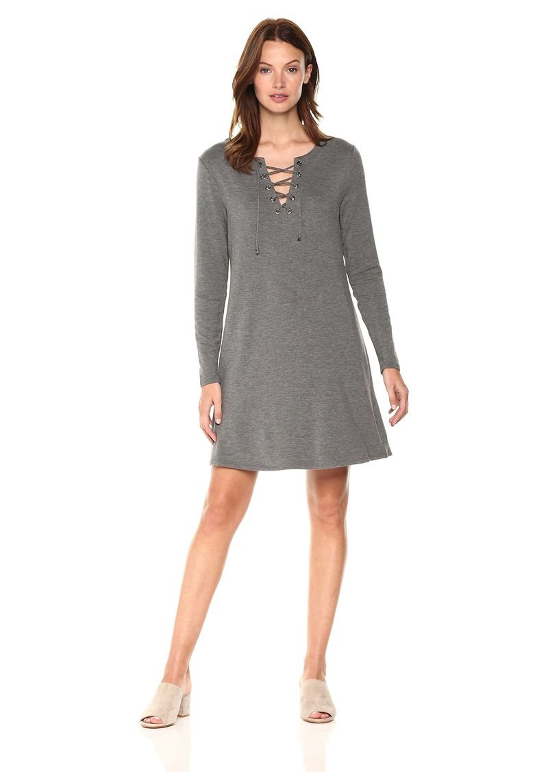 cupcakes and cashmere Women's Celerina Lace Up Knit Dress