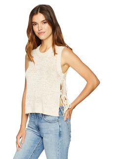 cupcakes and cashmere Women's Chantell Lace Up Detailed Sweater Vest
