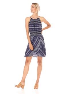 cupcakes and cashmere Women's Darden Tie Die Fit and Flare Dress