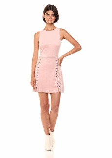 cupcakes and cashmere Women's Daton Stitch Detailed Fit and Flare Dress