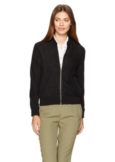 cupcakes and cashmere Women's drey Faux Suede Bomber Jacket