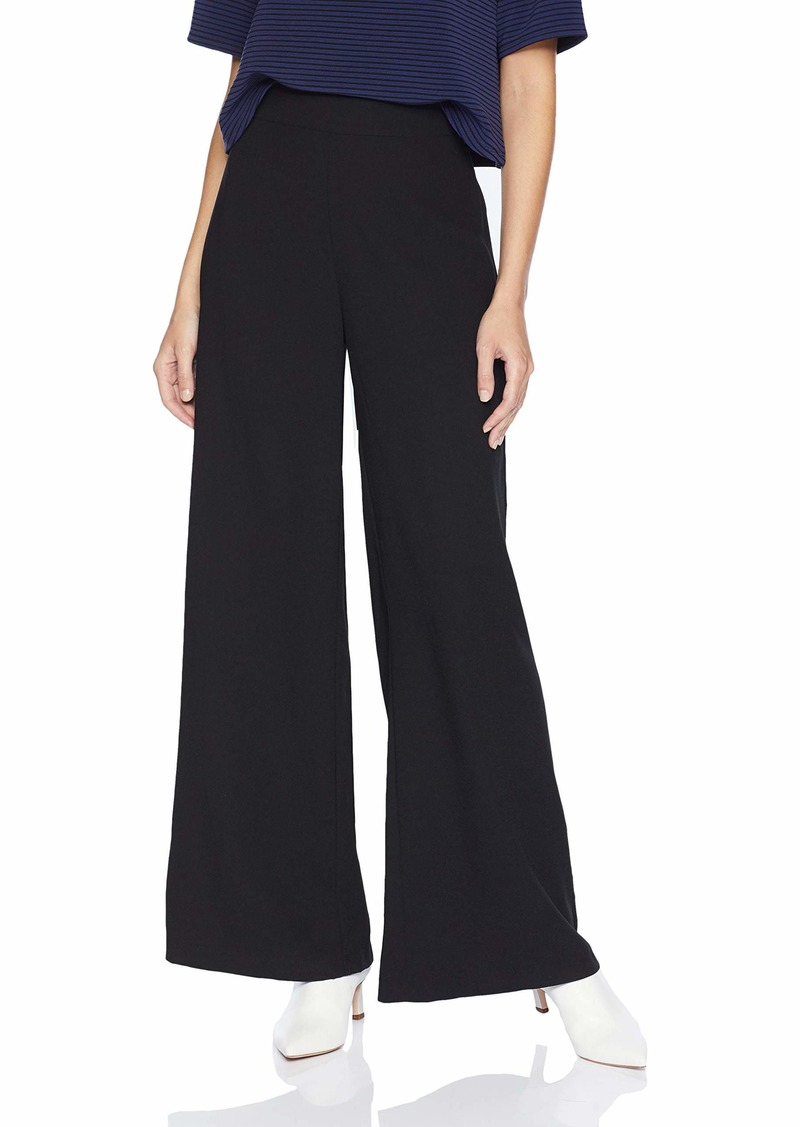 cupcakes and cashmere Women's EMI Satin Back Crepe Wide Leg Pant