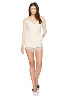 cupcakes and cashmere Women's Erma Lace Trim Romper