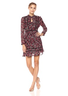 cupcakes and cashmere Women's Graceland Printed Fit n Flare Dress