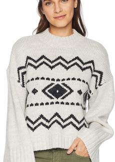cupcakes and cashmere Women's Harden Slouchy Jacquard Sweater