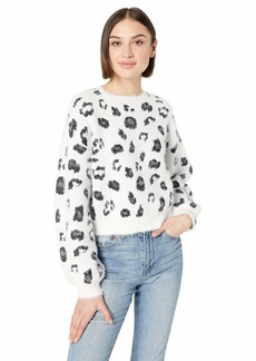 cupcakes and cashmere Women's Huxley Metallic Leopard Sweater