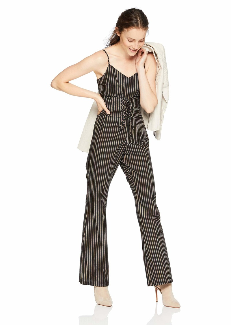 cupcakes and cashmere Women's Jaiden Striped Corset Jumpsuit