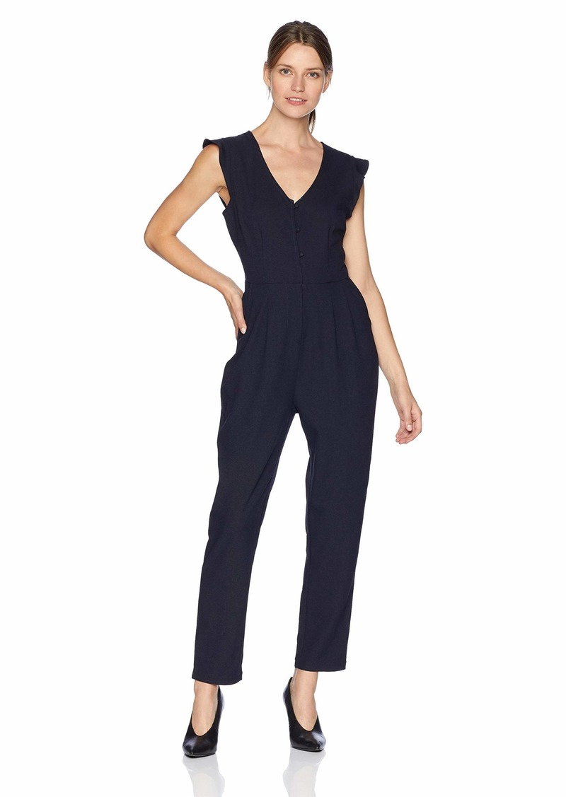 cupcakes and cashmere Women's Janeen Flutter Sleeve Jumpsuit