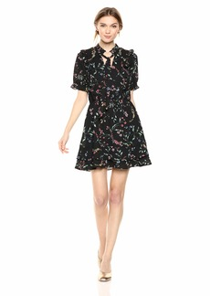 cupcakes and cashmere Women's Karolina CDC Printed Dress w/Front Keyhole